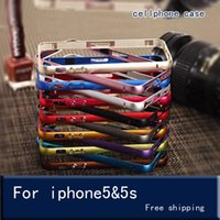 Wholesale Thinnest Metal Iphone 5s Bumpers - The metal frame for iPhone 5s SE Case Aluminium Metal Bumper Frame Case Cover for iPhone 5S SE Ultra Thin Slim case cover