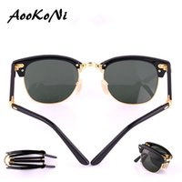 Wholesale Boy Master - AOOKO Hot Sale Newest Fashion Classical fold Sunglasses Master Folding Glasses Rollaway Women Brand Designer Men Spectacles with box 51mm