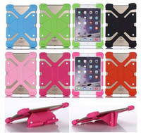 Wholesale Silicone Ipad Stand - Universal Soft Silicone Tablet Phone Case Heavy Duty Shockproof Protective Stand Cover For Ipad mini 7 8 9 12 inch Tablet Case
