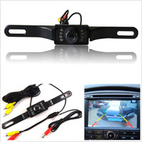 12v cmos Canada manufacturers - New 12V 120° CMOS Waterproof Infrared Auto Reversing View Parking Backup Camera Kit Free car shipping