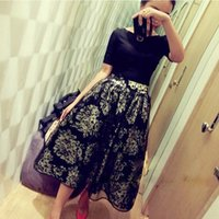 Wholesale Polka Dot Two Piece Dress - New Fashion Casual Dress Women Summer Dress Vestidos Two-Piece Floral Chiffon Dresses 850979