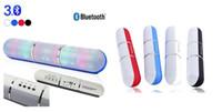 Wholesale Wholesale Pills - 2017 New JHW-V318 Bluetooth speaker Pulse Pill LED Flash Lighting Portable Wireless Bluetooth Speaker Bulit-in Mic Handsfree YEYS