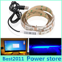 USB Power Highlight 0.5m 1m 1.5m 2m DC 5V 5050SMD Iluminación impermeable Backgroud LED Franja de decoración de la casa luz de la cinta