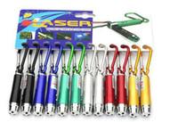 Wholesale High Power Uv Torch - 3 in 1 LED Laser Pen Pointer Flash Light UV Torch 5mW Emergency Keychain High Power