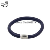 Wholesale Sheepskin Gifts Wholesaler - Wholesale Single Layers Genuine Sheepskin Leather Endless Bracelets With Magnet Clasp For Women Gifts MIJ042