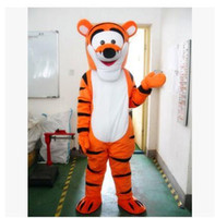 Wholesale Costumes Winnie Pooh - 2018 High quality Lovely Tigger and Winnie the pooh Mascot Costume Adult Size Cartoon Mascot Animal Apparel