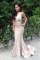 Wholesale Slinky Black Sexy Dress - Custom measurements Sexy Mermaid 2016 Slinky Nude Evening Gown Sleeveless Cheap Prom Dresses Occasion Dresses Party Dresses
