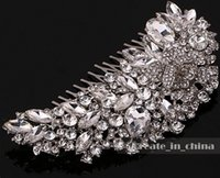 Wholesale Rhinestone Hair Accessories For Wedding - 2016 Vintage Crystal Tiara Bridal Hair Accessories For Wedding Quinceanera Tiaras And Pageant Rhinestone glass Hair flowers C1005