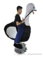 Wholesale Ostrich Mascot Costumes - RH0416 100% real photos ride on ostrich illusion costume suit ostrich man mascot costume for adult to wear