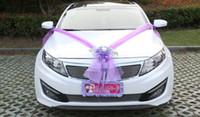 grandes arcos de carro venda por atacado-Carro de casamento Flor Projeto Decoração Kit de Decoração de Casamento Carro Kit Grande Arcos Coreano Rosa flor artificial Carro de Casamento Decoração Kit