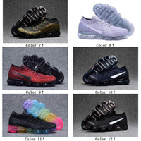 Wholesale Trainers Best Quality - Wholesale with best quality OG Vapormax white black Hot Sale Women Men running Shoes sports sneakers Discount Outdoor trainers 2018