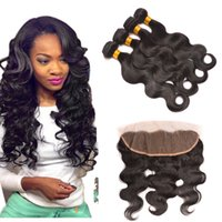 Wholesale Mixed Queen Malaysian Hair - Queen Hair Lace Frontals With Straight Hair And Bundles Full Frontal Closure With Body Wave Human Hair weaves Brazillian Straight