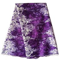 Wholesale Best Selling Purple African Lace Fabric With Stones Nigerian French Fabric High Quality African Tulle Lace Fabric