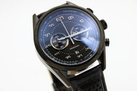 Wholesale flyback chronograph watch for sale - Limited Edition Tag Quartz Watch For Men Chronograph Flyback Stainless Skeleton Leather Band Caliber Watch NL
