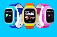 Wholesale Sos Devices - GPS Q90 Watch Touch Screen WIFI Positioning Smart Watch Children SOS Call Location Finder Device Anti Lost Reminder PK Q60 Q80