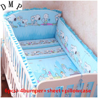 Wholesale cribs bedding sets for sale - Group buy Promotion Baby Bed Cotton New Crib Bedding Set Nursery Bedding include bumpers sheet pillowcase