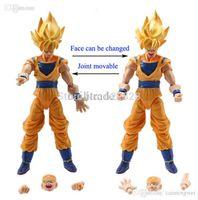 Wholesale Dbz Pcs - Wholesale-Lot 6 pcs Dragonball Z Dragon ball DBZ Goku Piccolo Action Figure Toy Set Anime Free Shipping