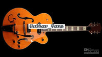 gitarre elektrische hohle orange großhandel-GRE G6120DSW Vintage Select Edition 1962 Chet Atkins Country Gentleman Orange Hollow Body JAZZ E-Gitarre Gold Pickugard Bigs Bridge
