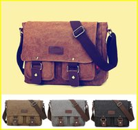 Wholesale Messenger Shoulder Bag For Laptop - Canvas Messenger Shoulder Bag Laptop Designer Computer Bag Satchel School Working bag for Men and Women out099