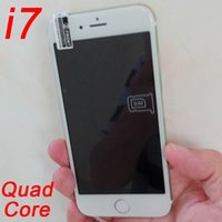 Wholesale Chinese Smartphone Copies - Cheap Goophone i7 4.7inch 1:1 Copy Quad Core 3G WCDMA Smartphone 1GB+16GB 3mp+8mp Android 6.0 Show 4G Lte 64bit Octa core 4GB Ram Cell Phone