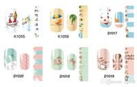 Wholesale Nail Foils Light - Nice l 2D Nail Art Transfer Stickers Design Manicure Tips Decal Decorations Patch Foils Wrap CREATE YOUR OWN NAILS #2hiyu8