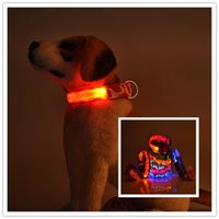 20 pz Fedex mescolano 2.5CM ordine wideth 3 Superficie mimetismo collari per cani LED lampeggiante pet collare di sicurezza in nylon Guinzagli LED
