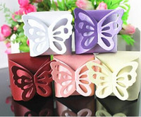 Wholesale Wholesale Party Food Boxes - New Free Shipping Butterfly Favor Gift Candy Boxes Cake Style for Wedding Party Baby Shower LDD051