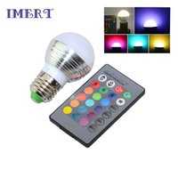 Novo E27 16 cores Mudando 3W 85-265V magic RGB LED Lamp Stage DJ Light Dimmable RGB Bulb + 24key IR Controle remoto L001