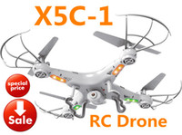 Wholesale Long Distance Remote Controls - 2.4GHz 6 axis RC drones X5C-1 with 30W HD Camera RC Quadcopter with 360° Flips long distance remote control RC Toys