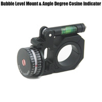 evrensel kapsam toptan satış-Evrensel 25mm / 30mm Kapsam Yüzükler Için Flippable Kabarcık Seviyesi Dağı Ve Açı Derece Kosinaz Göstergesi Optik Tüfek Kapsam Sight Siyah