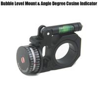anéis de escopo de montagem venda por atacado-Universal 25mm / 30mm Âmbito Flippable Nível de Bolha de Montagem E Ângulo Graus Indicador de Cosseno Para Optical Rifle Scope Visão Preto