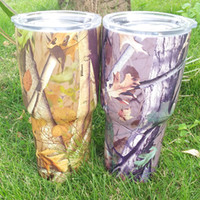 Wholesale Steel Camp Mug - Camo Yowies Tumbler Stainless Steel Double Wall Vacuum Insulated Tumbler with Lid, 30 oz camping cup&mug Free Shipping Via FedEx DOM106325