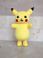 personagens trajes trajes venda por atacado-Terno Trajes de caracteres novo Top Grade de luxe Pikachu Mascot Costume dos desenhos animados da mascote Máscara do partido