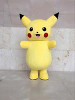 süslü kıyafet karakteri toptan satış-Yeni Üst Sınıf Deluxe pikachu Maskot Kostüm Karikatür Karakter Kostümleri Maskot Kostüm Fantezi Elbise Parti Suit