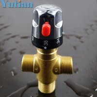 Wholesale Thermostatic Valve Solar - Free Shipping Brass thermostatic valve, temperature mixing valve ,solar water heater valve parts, thermostatic mixer,YT-5140