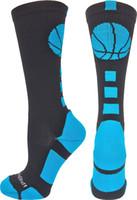 ingrosso calzini da equipaggio atletico-MadSportsStuff Basketball Logo Athletic Crew Socks (oltre 15 colori)
