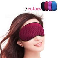 Wholesale Ear Plug Eye - Bamboo-Carbon mulberry silk sleep eye mask ventilation lovely women blackout goggles ear plugs to sleep newest