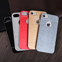 Wholesale Iphone Covers Aluminium Silver - For iphone 7 7plus 6 MOTOMO Hard Case Metal Aluminium Brush Back Cover for iphone7 5 6S plus