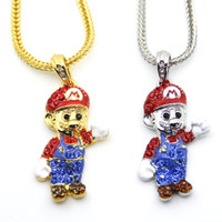 Wholesale Fashion Jewelry Cartoon - Fashion Cartoon Game pendant Hip hop Necklace Jewelry Bling Bling N620
