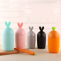 Wholesale Promotional Water Bottles - European style thermos bottle creative cartoon carrot rabbit glass portable hot water cup children's student cup promotional gifts