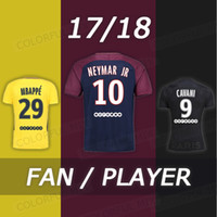 487876a5c NEYMAR JR 10 MBAPPE CAVANI DI MARIA VERRATTI DANI ALVES NEYMAR Jersey Home  Away Third black 17 18 Soccer Jerseys Football Uniforms Kit ...