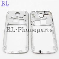 Wholesale S4 Key - 10pcs lot OEM Middle Bezel Frame Plate For Samsung Galaxy S4 I9500 i9505 i337 M919 I9506 Housing With Side button Key