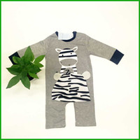 Wholesale Cow Headband - long sleeve cow baby boys rompers kids newborn bodysuits grey solid children sleepwear baby girls jumpsuits outfits infant toddler new style