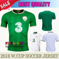 Wholesale National Green - NEW TOP Quality 17 18 Ireland Soccer Jerseys Republic of Ireland National Team 2018 World Cup KEANE Daryl Home Green Away Football Shirts