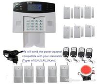 segurança em casa com fio lcd venda por atacado-Kit de alarme DIY com display LCD Tela 7 com fio e 99 zonas de defesa sem fio Sistema de Alarme Home Wireless Assaltante de Segurança GSM SMS