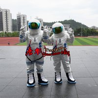 Wholesale Astronaut Costume Adult - Space astronauts polyester waterproof cartoon mascot costume adult size reality custom clothing free shipping