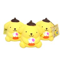 Kawaii Pudding Dog Squishy Ice Cream Slow Rising Original bandeaux de téléphone à bande dessinée Cute Bread Cake Fun Kid Toy Gift Wholesale