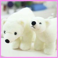 Wholesale Marine Toys For Children - White Polar Bear Doll Standing Bear Marine Fluffy Stuffed Animals Soft Plush Doll Toys Baby Children Birthday Gift for Kids