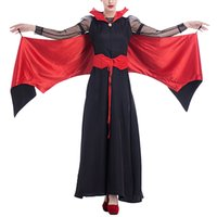 Novelty Special Temperament Feather Clothes Bat Ghost Halloween Cosplay Costumes Presentes para Mulheres