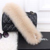 Wholesale Scarfs For Women Hood - Ms.Leefur Brand New Genuine Fox Fur Collar Dyeing Scarves Women Winter Scarves Jacket scarf for Hood 12 Colors